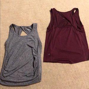MATERNITY activewear tank tops.